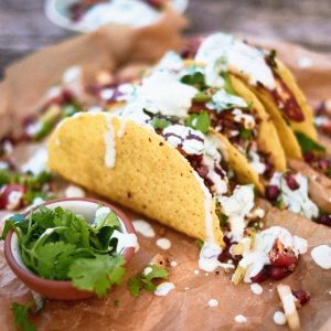Add some sour cream to your tacos!