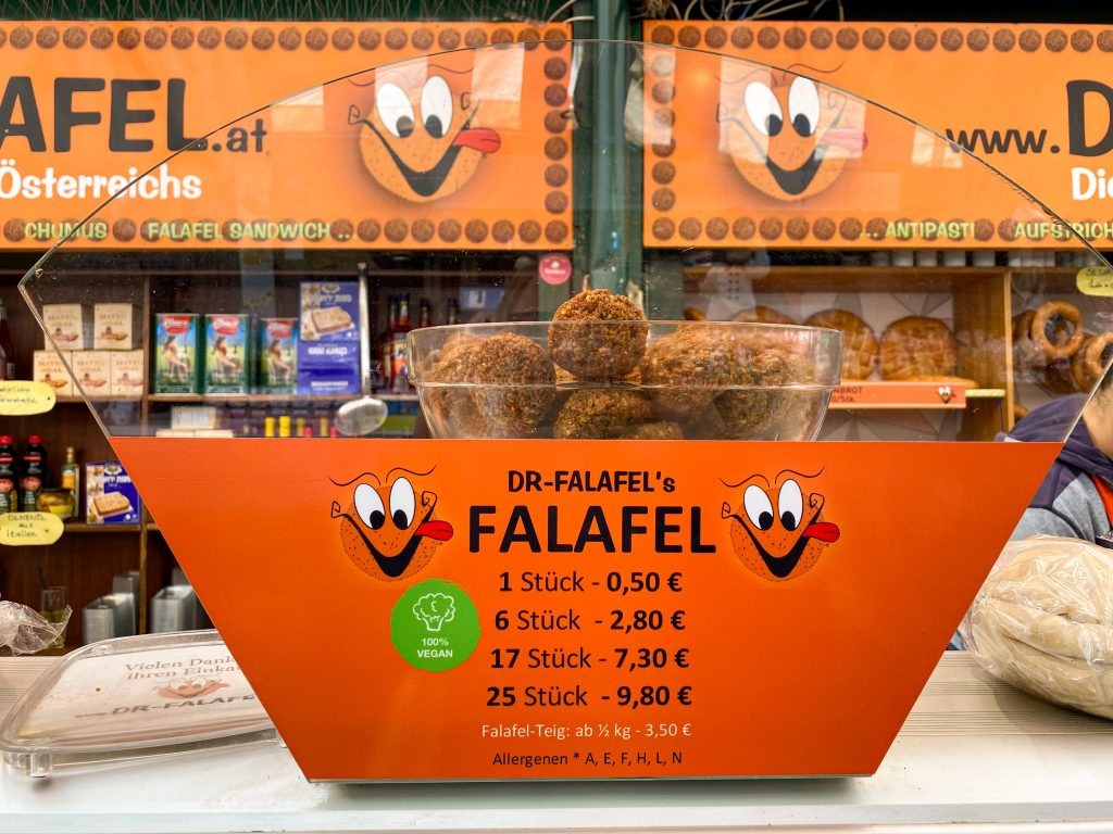Dr Falafel at Naschmarkt in Vienna